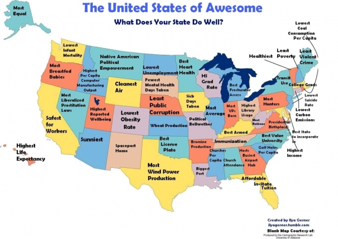 United States of Awesome map